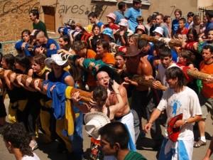 Acarreo del Pino Mayo en fiestas